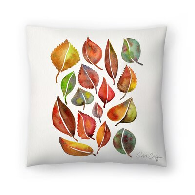 Cat Coquillette Fall Leaves Throw Pillow Size: 14