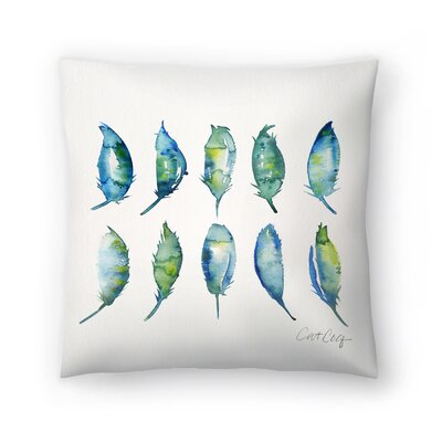 Cat Coquillette Feathers Throw Pillow Size: 20 x 20