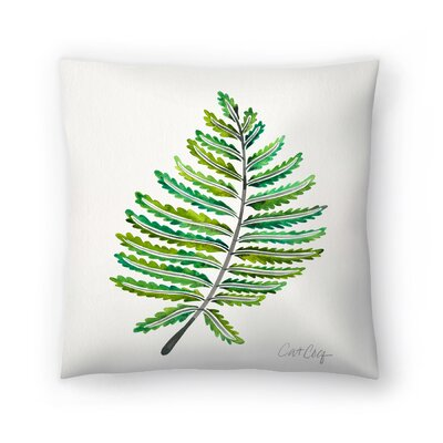 Cat Coquillette Fern Leaf Throw Pillow Size: 14 x 14