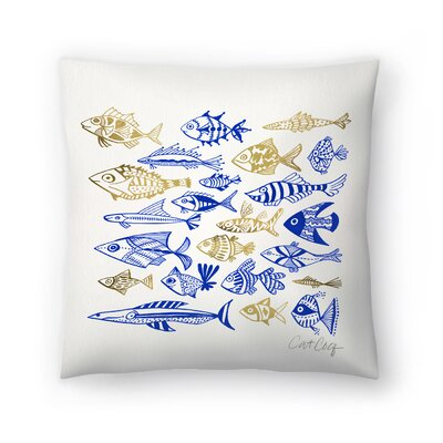 Cat Coquillette Fish in Klings Throw Pillow Size: 20 x 20