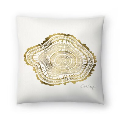 Tree Rings Throw Pillow Size: 18 x 18