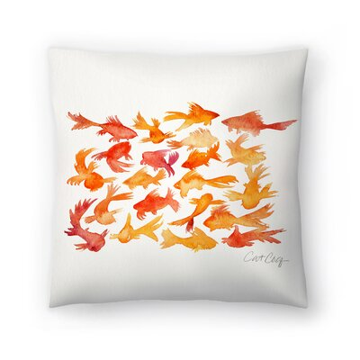 Cat Coquillette Goldfish Throw Pillow Size: 14 x 14