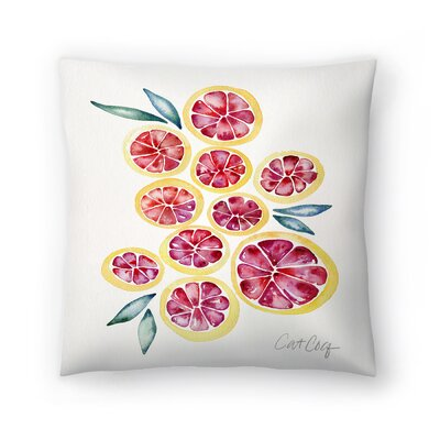 Cat Coquillette Grape Fruit Slices Throw Pillow Size: 18 x 18