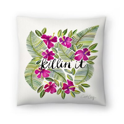 Killinit Magenta Throw Pillow Size: 18 x 18
