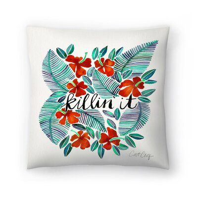 Cat Coquillette Killinit Throw Pillow Size: 18 x 18