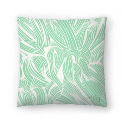 Cat Coquillette Minty Seafoam Throw Pillow Size: 16 x 16