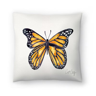 Cat Coquillette Monarch Throw Pillow Size: 14 x 14