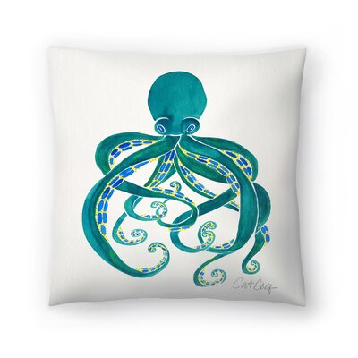 Cat Coquillette Octopus Throw Pillow Size: 20 x 20