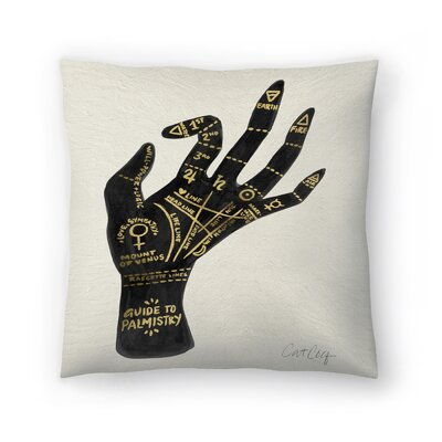 Cat Coquillette Palmistry Throw Pillow Color: Black/Gold, Size: 20 x 20