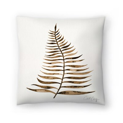 Cat Coquillette Palm Leaf Throw Pillow Color: Sepia, Size: 16 x 16