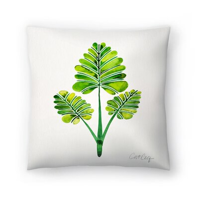 Cat Coquillette Palm Leaf Trifecta Throw Pillow Size: 18 x 18