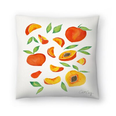 Cat Coquillette Peaches Throw Pillow Size: 18 x 18