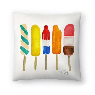 Cat Coquillette Popsicles Throw Pillow Size: 16 x 16