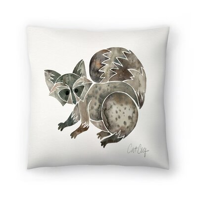 Raccoon Throw Pillow Size: 20 x 20
