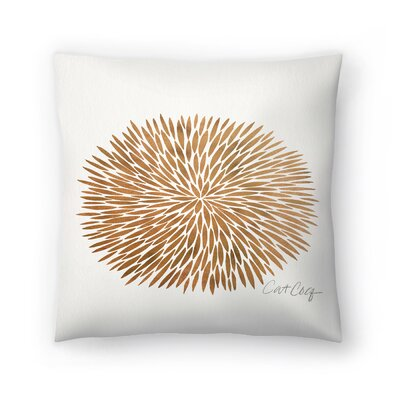 Cat Coquillette Rose Burst Throw Pillow Size: 20 x 20