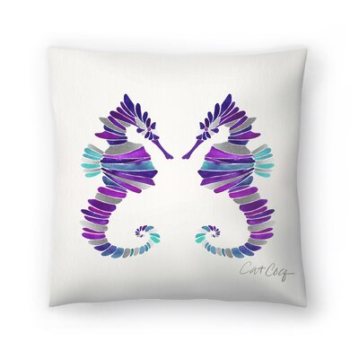 Cat Coquillette Seahorses Throw Pillow Size: 18 x 18