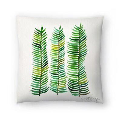 Cat Coquillette Seaweed Throw Pillow Size: 14 x 14