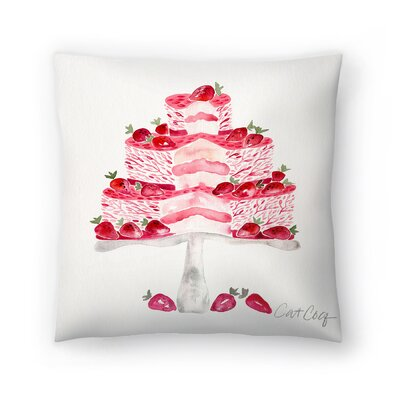 Cat Coquillette Short Cake Throw Pillow Size: 18 x 18