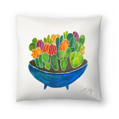 Cat Coquillette Succulents Throw Pillow Size: 18 x 18