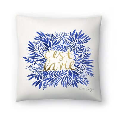 Cat Coquillette Thats Life Throw Pillow Size: 14 x 14