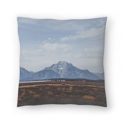 Luke Gram Grand Tetons Wyoming Ii Throw Pillow Size: 14 x 14