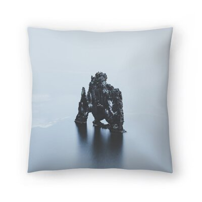 Luke Gram Hvitserkur Iceland Throw Pillow Size: 16 x 16
