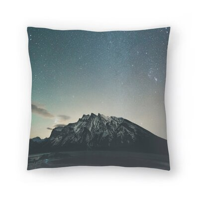 Luke Gram Lake Minnewanka Alberta Ii Throw Pillow Size: 18 x 18