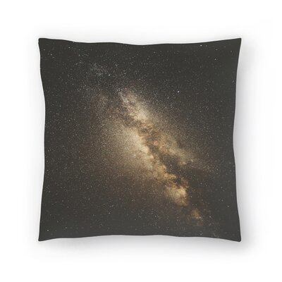 Luke Gram Milky Way Throw Pillow Size: 18 x 18