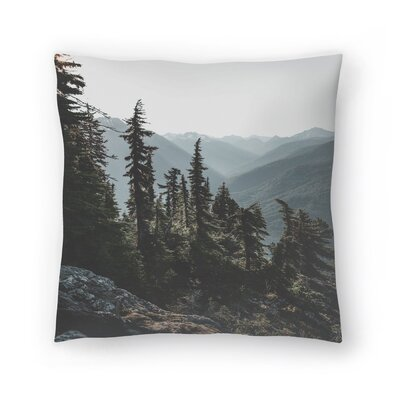 Luke Gram North Cascades National Forest USA Throw Pillow Size: 18 x 18