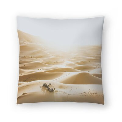 Luke Gram Sahara Desert Throw Pillow Size: 14 x 14