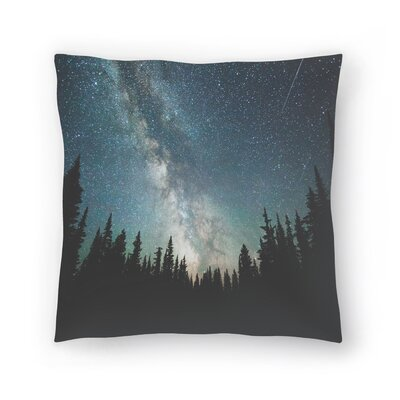 Luke Gram Stars Over the Forest lll Throw Pillow Size: 18 x 18