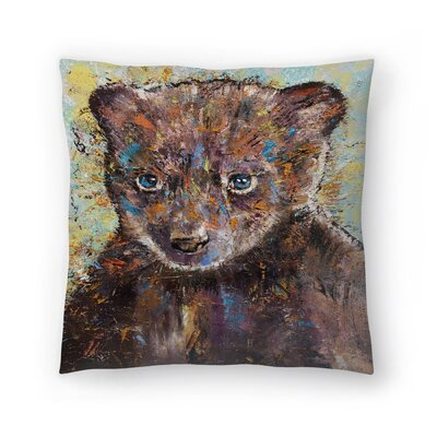 Michael Creese Baby Bear Throw Pillow Size: 20 x 20