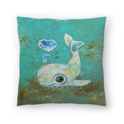 Michael Creese Baby Whale Throw Pillow Size: 16 x 16