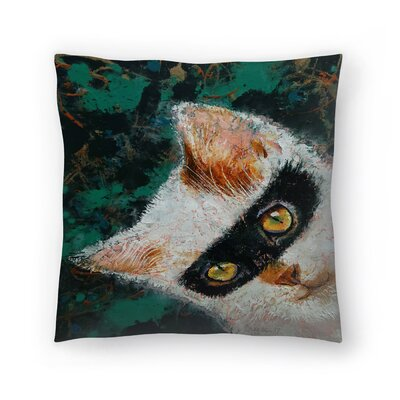 Michael Creese Cat Burglar Throw Pillow Size: 18 x 18
