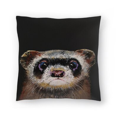 Michael Creese Ferret Throw Pillow Size: 18 x 18