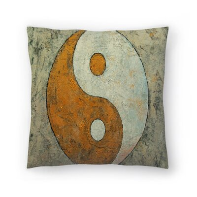 Michael Creese Yin and Yang Throw Pillow Size: 18 x 18