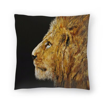 Michael Creese Lion Throw Pillow Size: 18 x 18