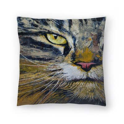 Michael Creese Norwegian Forest Cat Throw Pillow Size: 18 x 18
