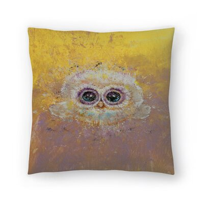 Michael Creese Owl Throw Pillow Size: 16 x 16