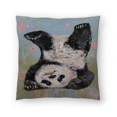Michael Creese Panda Headstand Throw Pillow Size: 16 x 16
