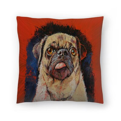 Michael Creese Pug Dog Portrait Throw Pillow Size: 14 x 14