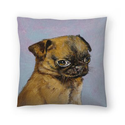 Michael Creese Pug Puppy Throw Pillow Size: 16 x 16
