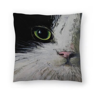 Michael Creese Tuxedo Cat Throw Pillow Size: 18 x 18