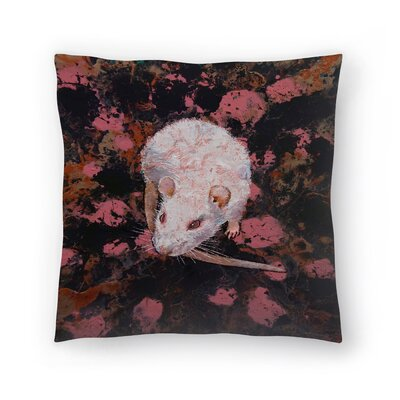 Michael Creese Rat Throw Pillow Size: 16