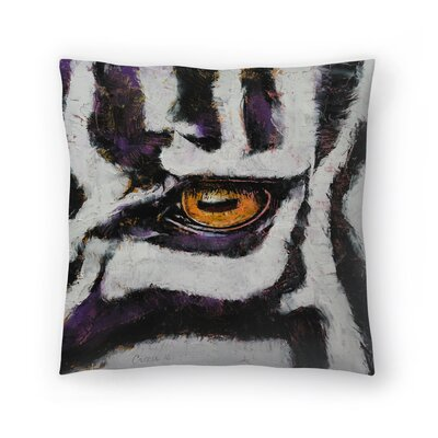 Michael Creese Zebra Throw Pillow Size: 18