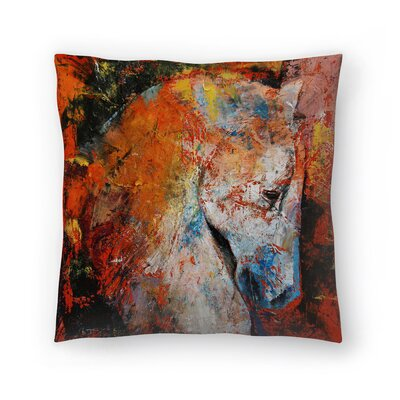 Michael Creese War Horse Throw Pillow Size: 14 x 14