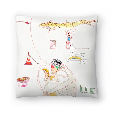 Kasi Minami Izumi Throw Pillow Size: 14 x 14