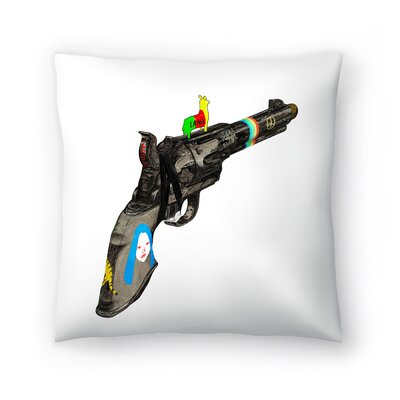 Kasi Minami Hippy Gun Throw Pillow Size: 14 x 14