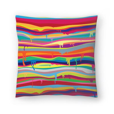 Joe Van Wetering The Melting Throw Pillow Size: 20 x 20