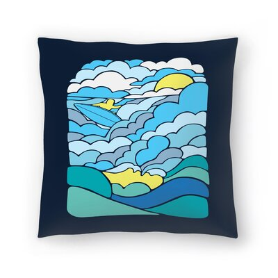 Joe Van Wetering Cloudsurfing Throw Pillow Size: 16 x 16